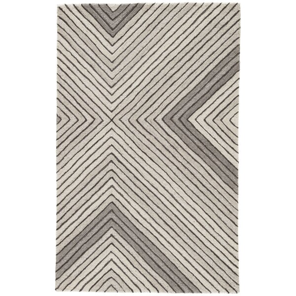 Sarmiento Hand-Tufted Wool Pumice Stone/Steeple Gray Area Rug by Orren Ellis