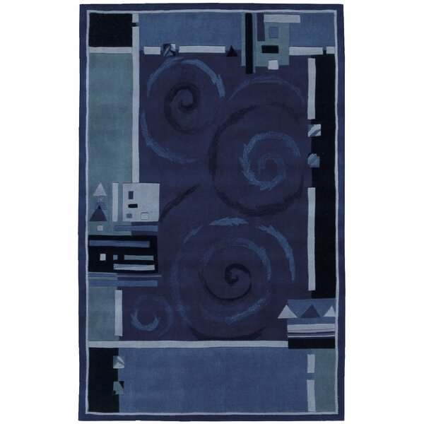 Auberon Blue Area Rug by Ebern Designs