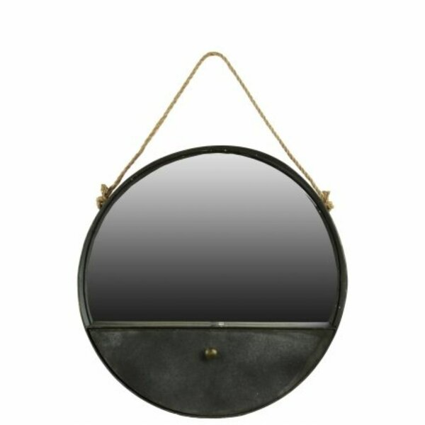 Genet Metal Accent Mirror with Drawer and Rope Hanger by Loon Peak