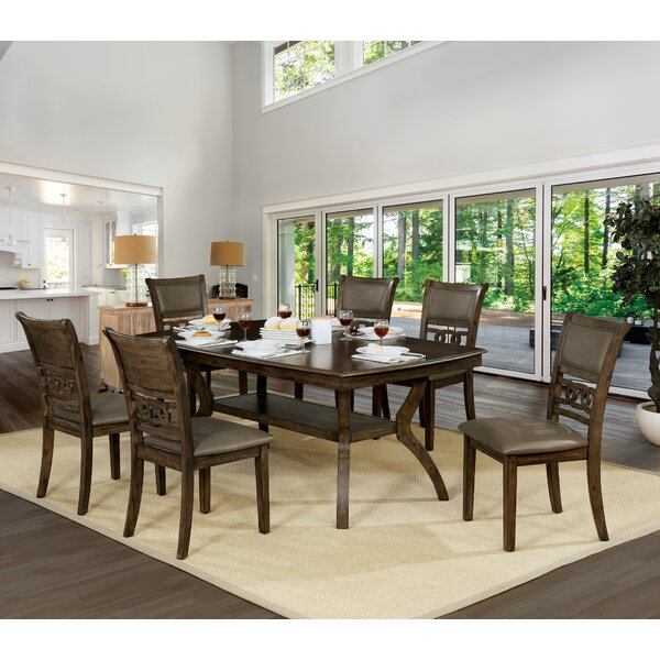 Gaenside 7 Piece Dining Set by Loon Peak