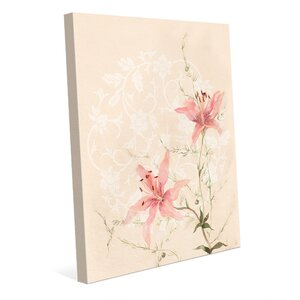 'Lilies' Graphic Art on Wrapped Canvas by Click Wall Art