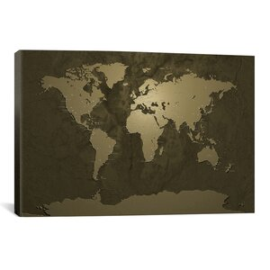 'World (Cities) Map V' Graphic Art Print by East Urban Home