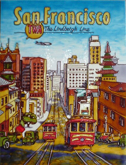 San Francisco Tile Wall Decor by Continental Art Center