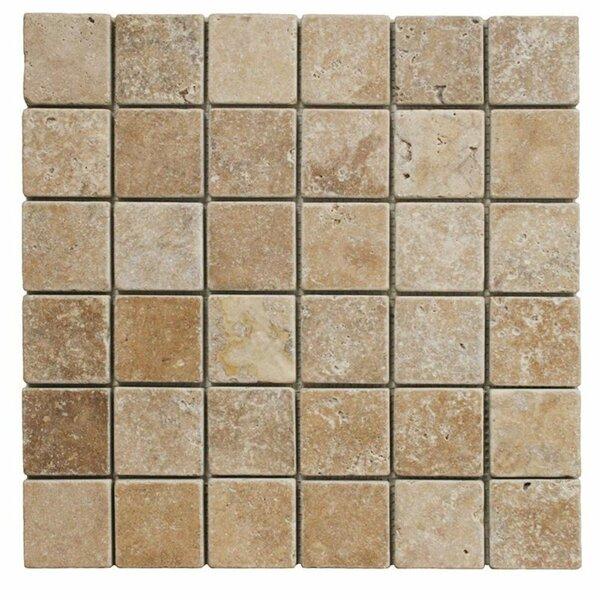 2 x 2 Travertine Grid Mosaic Wall & Floor Tile