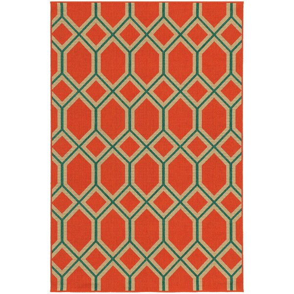 Seaside Orange/Teal Indoor/Outdoor Area Rug by Tommy Bahama Home