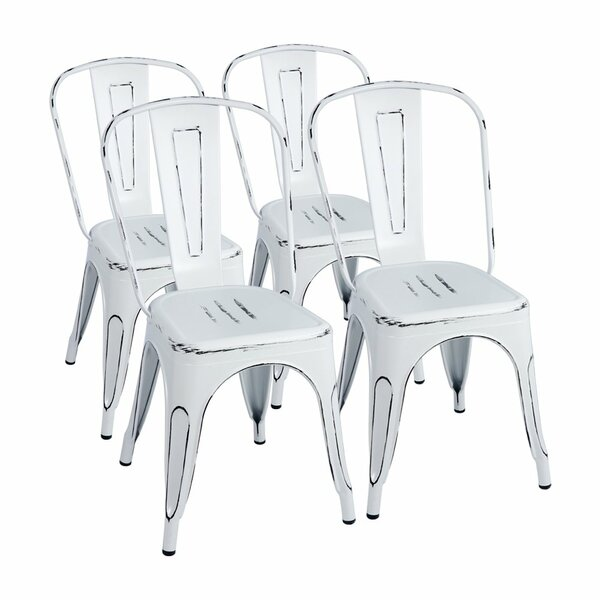 Zoie Metal Slat Back Side Chair (Set Of 4) By 17 Stories