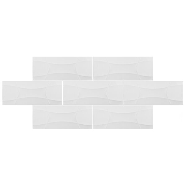 Castra 7.88 x 19.63 Ceramic Field Tile in White by EliteTile
