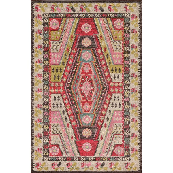Broadway Brown/Cream Area Rug by World Menagerie