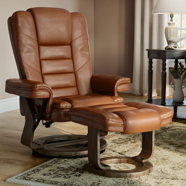 Albury Manual Swivel Recliner With Ottoman by Charlton Home