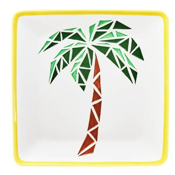 Paradise Ceramic Platters in Palm by Global Amici