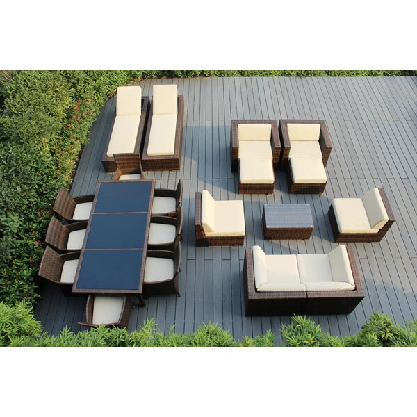 Bartol 20 Piece Rattan Complete Patio Set with Cushions by Orren Ellis