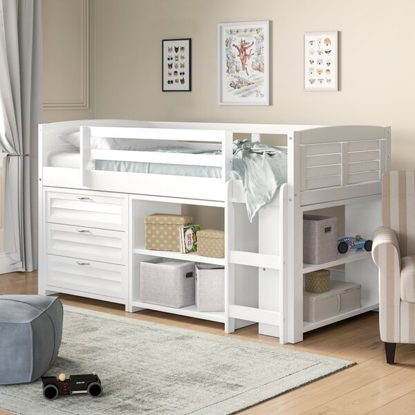 Evan Modern Twin Bed with Drawers and Bookcase by Birch Lane Heritage Birch Lane™ Heritage