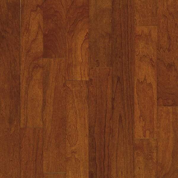 Turlington 5 Engineered Cherry Hardwood Flooring in Low Glossy Bronze by Bruce Flooring