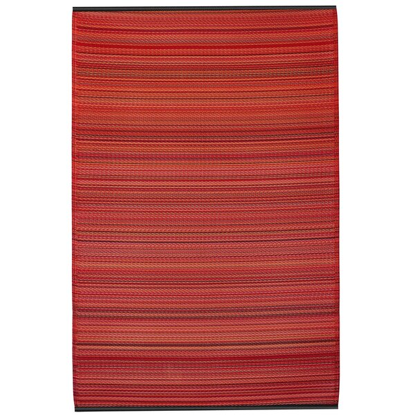Raub Sunset Red Indoor/Outdoor Area Rug by Wrought Studio