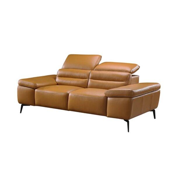 Kean Leather Loveseat by Orren Ellis
