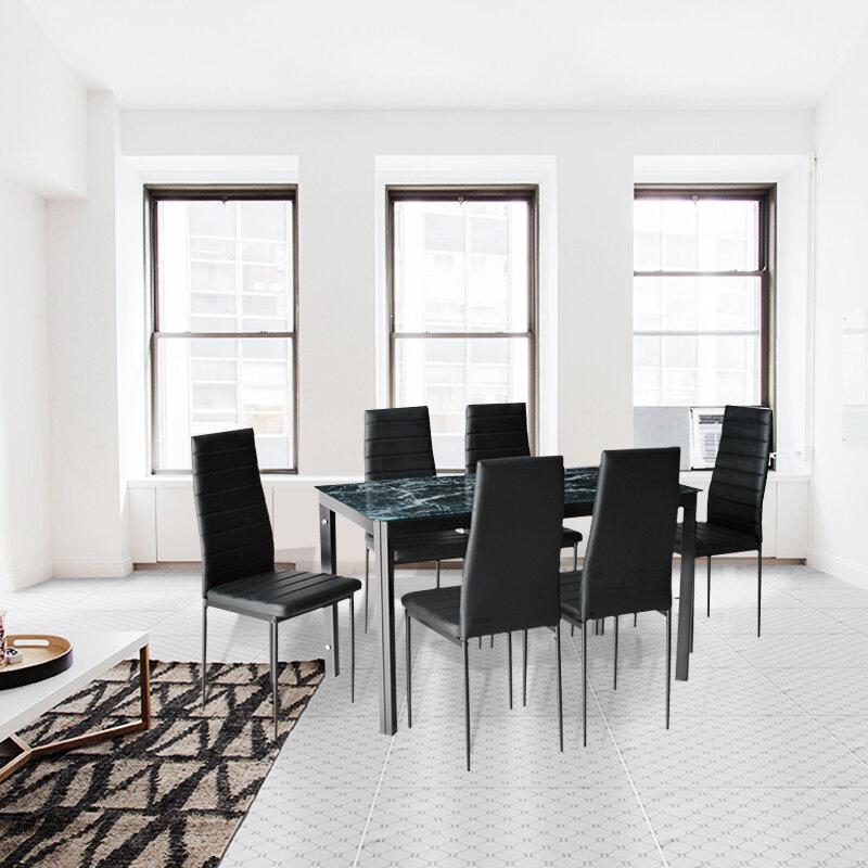Orren Ellis Renick Modern 7 Piece Dining Set Reviews