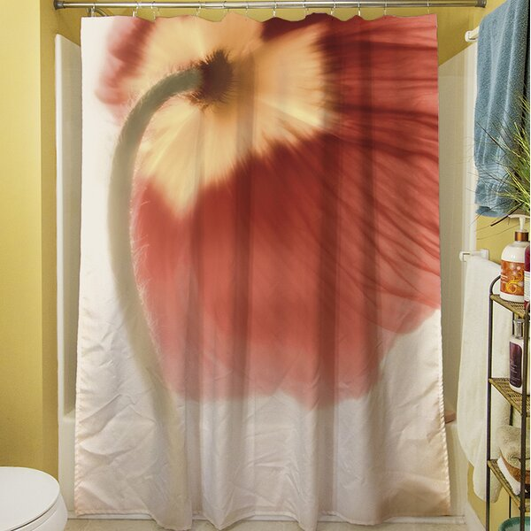 Mystic Poppy II Shower Curtain by Manual Woodworkers & Weavers