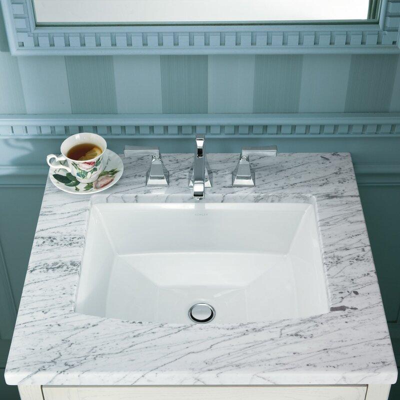 Kohler Undermount Bathroom Sinks Reviews kohler archer rectangular undermount bathroom sink & reviews   wayfair