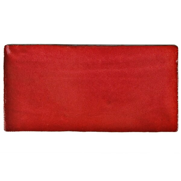 Antiqua 3 x 6 Ceramic Subway Tile in Special Red Moon by EliteTile