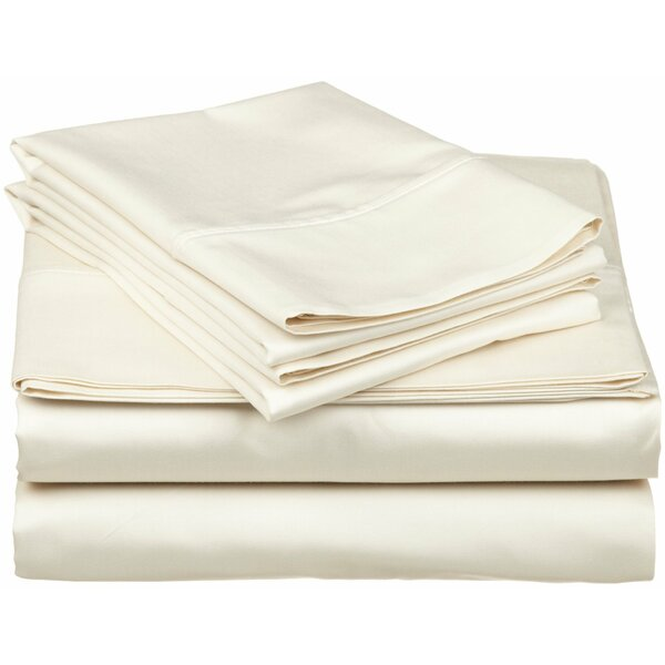 400 Thread Count Egyptian Quality Cotton Split Sheet Set by Scala Home Fashions Inc.