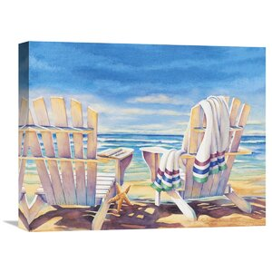 'Seaside I' by Kathleen Denis Painting Print on Wrapped Canvas by Global Gallery