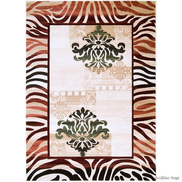 Print Brown Area Rug by AllStar Rugs