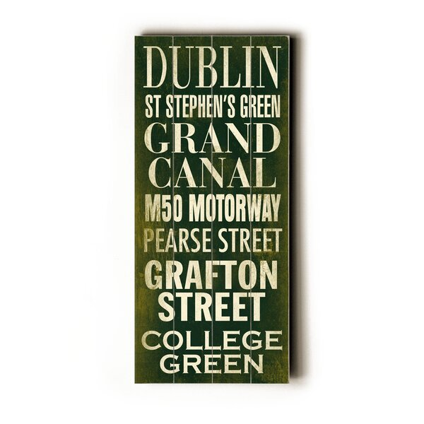Dublin Textual Art by Artehouse LLC