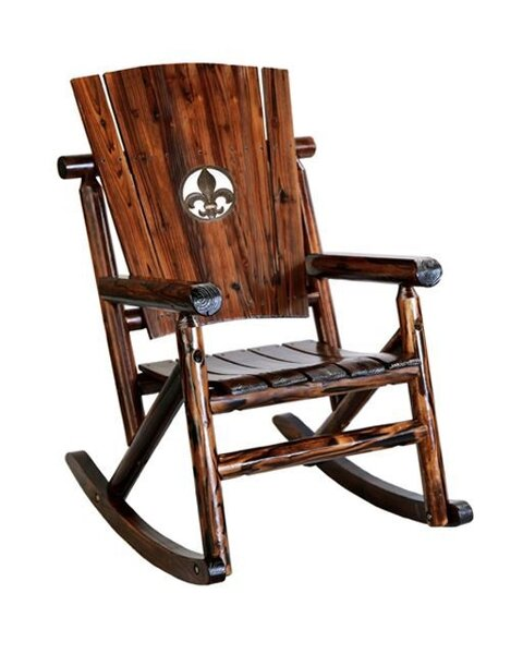 Ardoin Fleur de Lis Medallion Single Rocking Chair by Loon Peak