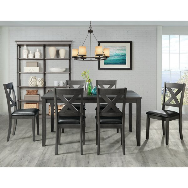 Colne 7 Piece Solid Wood Dining Set by Darby Home Co