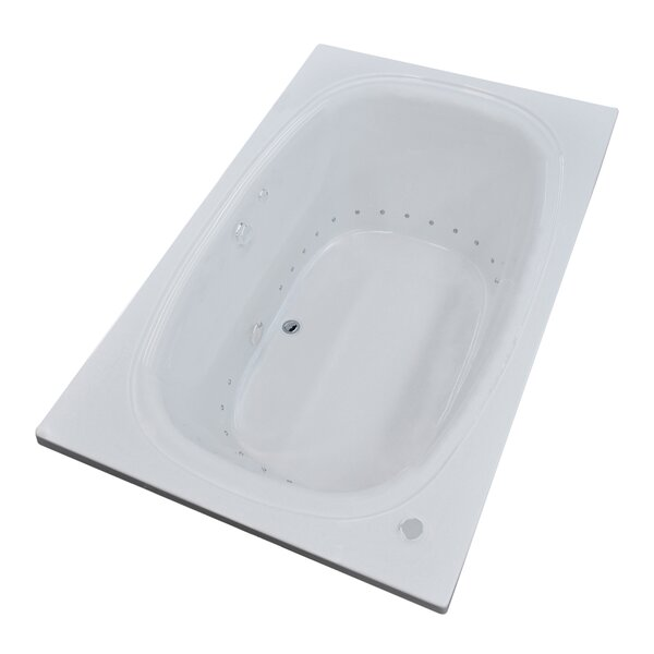 St. Kitts 65.25 x 35.63 Rectangular Air Jetted Bathtub with Drain by Spa Escapes