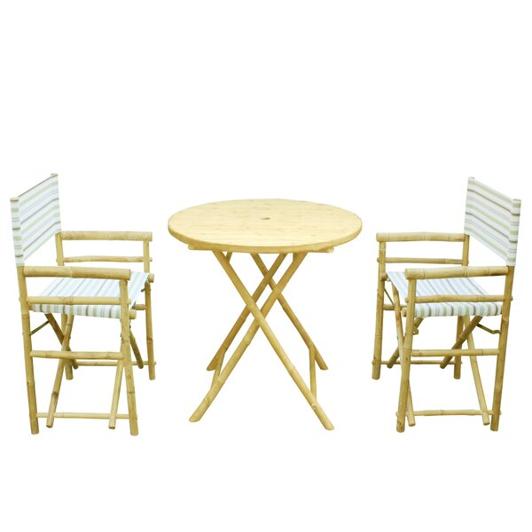 Sinta Bamboo 3 Piece Bistro Set by Bay Isle Home