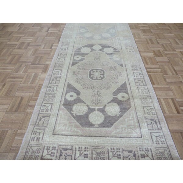 One-of-a-Kind Rhyne Peshawar Oushak Hand-Knotted Wool Brown Area Rug by Astoria Grand