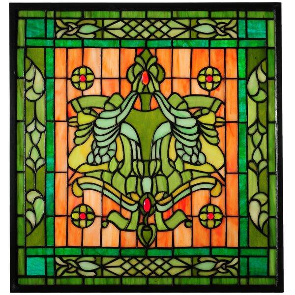 Victorian Flourish Stained Glass Window by Meyda Tiffany