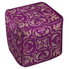 Mosaic Ottoman by Manual Woodworkers & Weavers