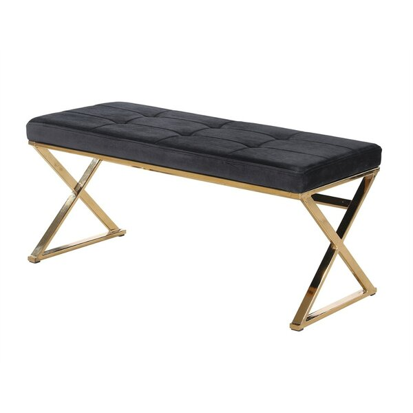 Keitt Relaxing Metal Bench by Mercer41