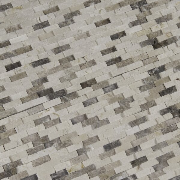 Emperador Blend Splitface Marble Mosaic Tile