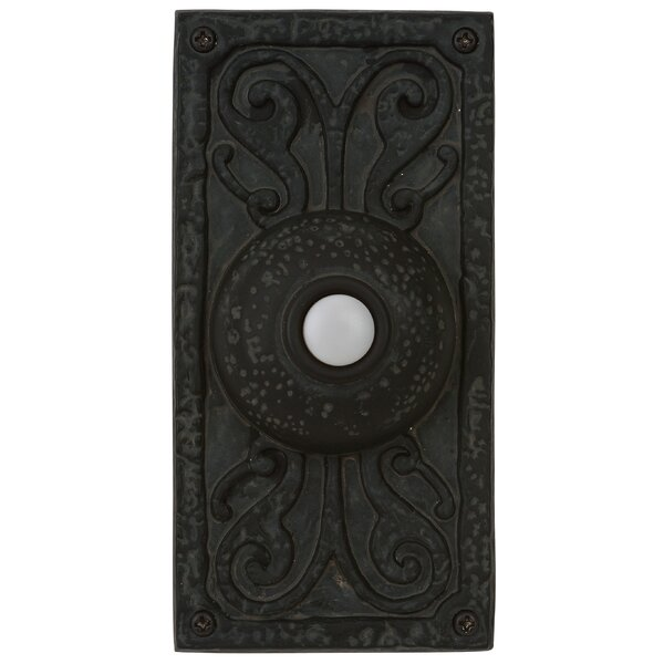 Surface Mount Doorbell in Weathered Black by Astoria Grand