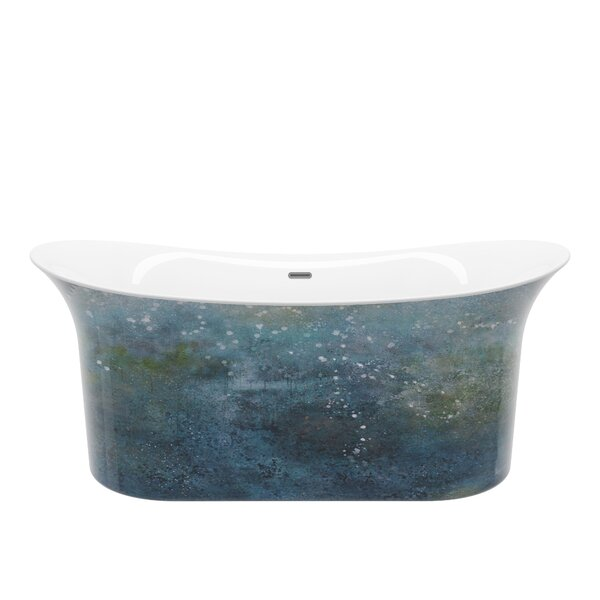 Cyclone 67 x 27 Freestanding Soaking Bathtub by A&E Bath and Shower