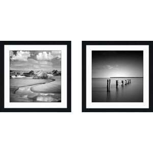 'Night Comes Falling' 2 Piece Framed Photographic Print Set by East Urban Home