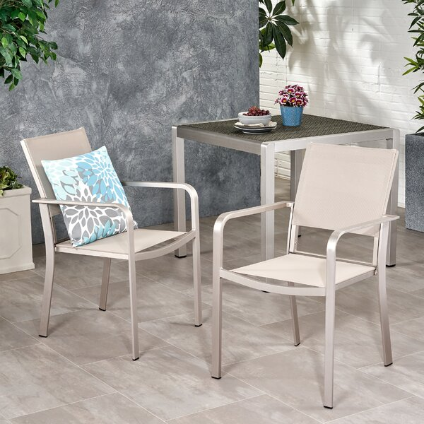 Westman Patio Dining Chair (Set of 2) by Wrought Studio