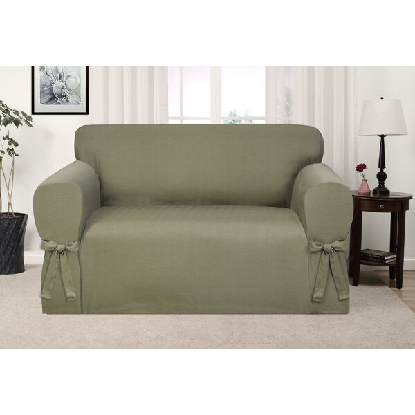 Box Cushion Loveseat Slipcover By Ophelia & Co. Ophelia & Co.