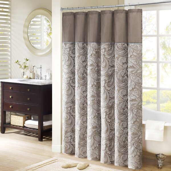 Pokanoket Jacquard Shower Curtain by Alcott Hill