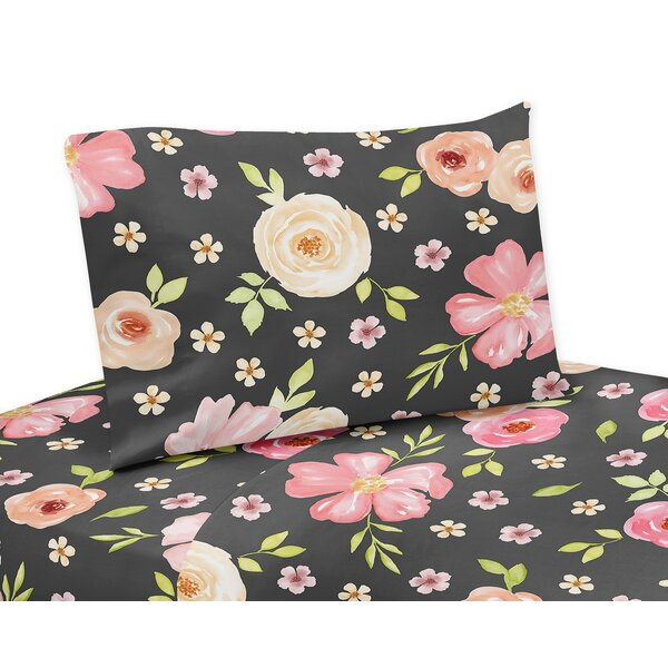 4f39fbeab Shop For Best Price Watercolor Floral Sheet Set By Sweet Jojo ...