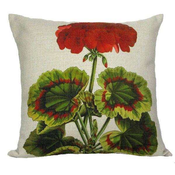 Geranium Throw Pillow by Golden Hill Studio