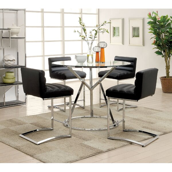 Destan 5 Piece Counter Height Dining Set by Orren Ellis
