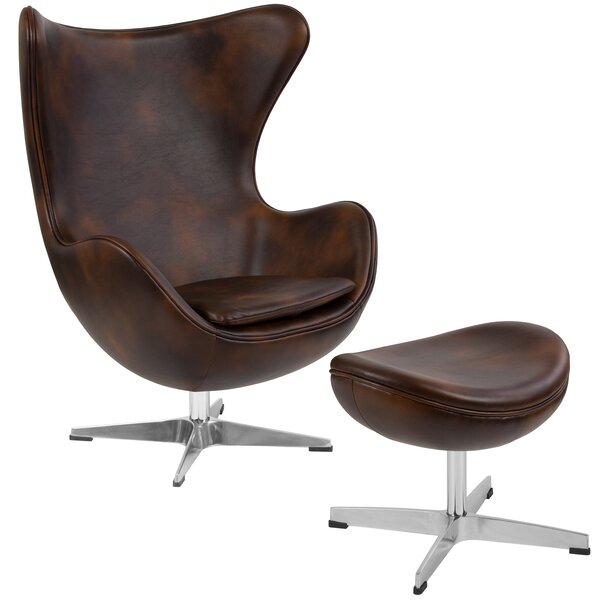 Violeta Swivel Lounge Chair and Ottoman by Brayden Studio