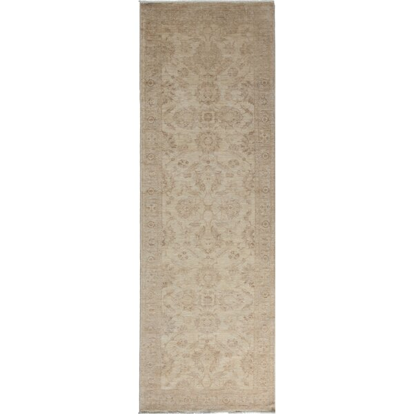 One-of-a-Kind Deslauriers Oushak Hand-Knotted Ivory Area Rug by Isabelline