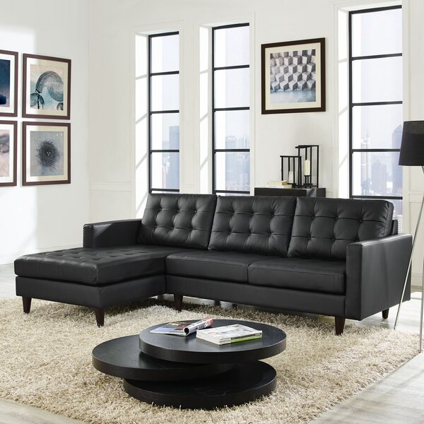 Gelb Leather Sectional by Ivy Bronx