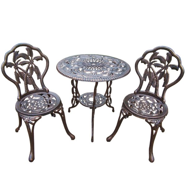 Palm Tree 3 Piece Bistro Set by Oakland Living