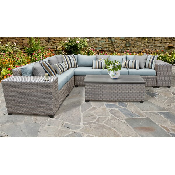 Merlyn 9 Piece Sectional Seating Group with Cushions by Sol 72 Outdoor